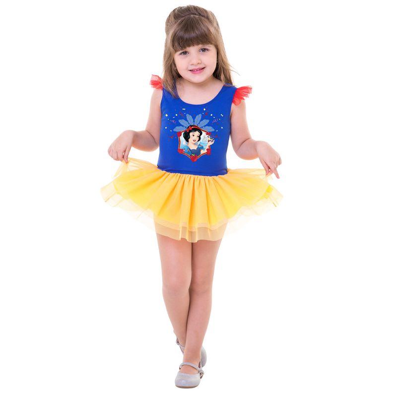 Fantasia De Carnaval Infantil Disney Princesas Branca De Neve