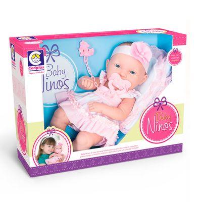 Boneca-Baby-Ninos-Com-Macaquinho-Rosa---Cotiplas