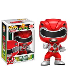 Figura-Colecionavel---Funko-POP---Power-Rangers---Ranger-Vermelho---Funko