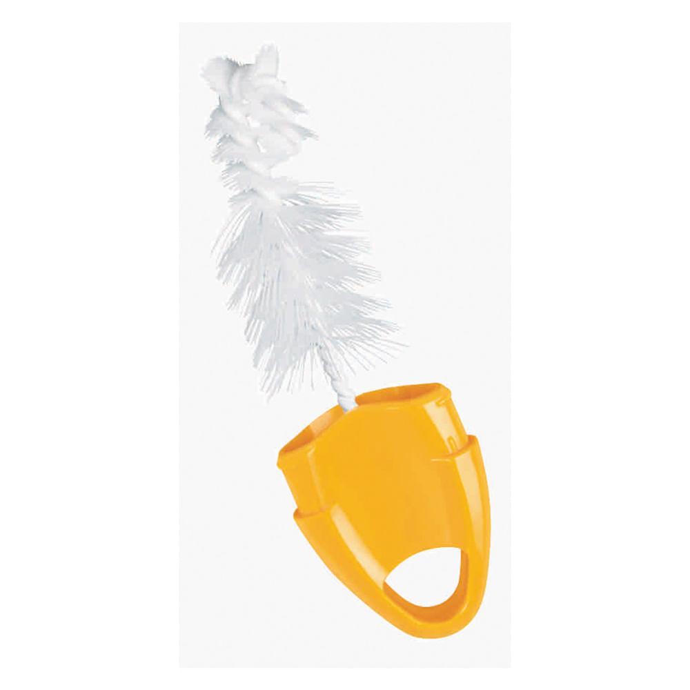 Escova para Mamadeiras - 2 em 1 - Amarelo - Nuk