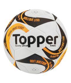 Bola-de-Futebol---Society---Branco-Preto-e-Laranja---Topper
