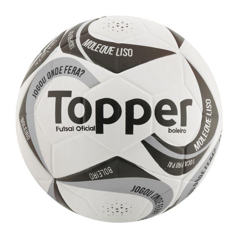 Bola de Futsal - Branco e Preta - Topper - Ri Happy Brinquedos 2a878170f6b34