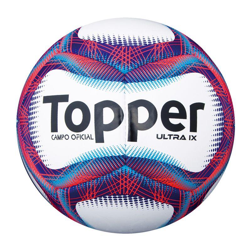 Bola de Futebol de Campo - Ultra IX - Branco e Vermelho - Topper - Ri Happy  Brinquedos 95f910ab68a1b