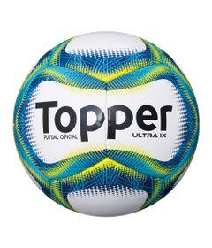 Bola-de-Futsal---Ultra-IX---Branco-e-Azul---Topper