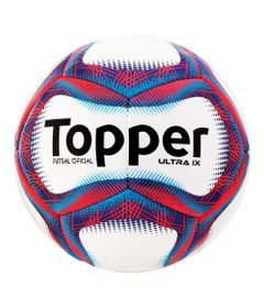 Bola-de-Futsal---Ultra-IX---Branco-e-Vermelho---Topper
