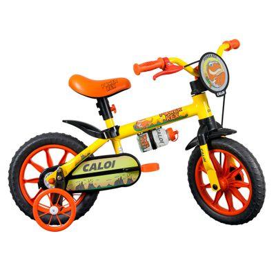 Bicicleta-ARO-12---Power-Rex---Amarela---Caloi_Frente