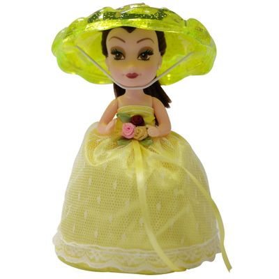 Mini-Boneca---Taca-Surpresa---Amarela---New-Toys
