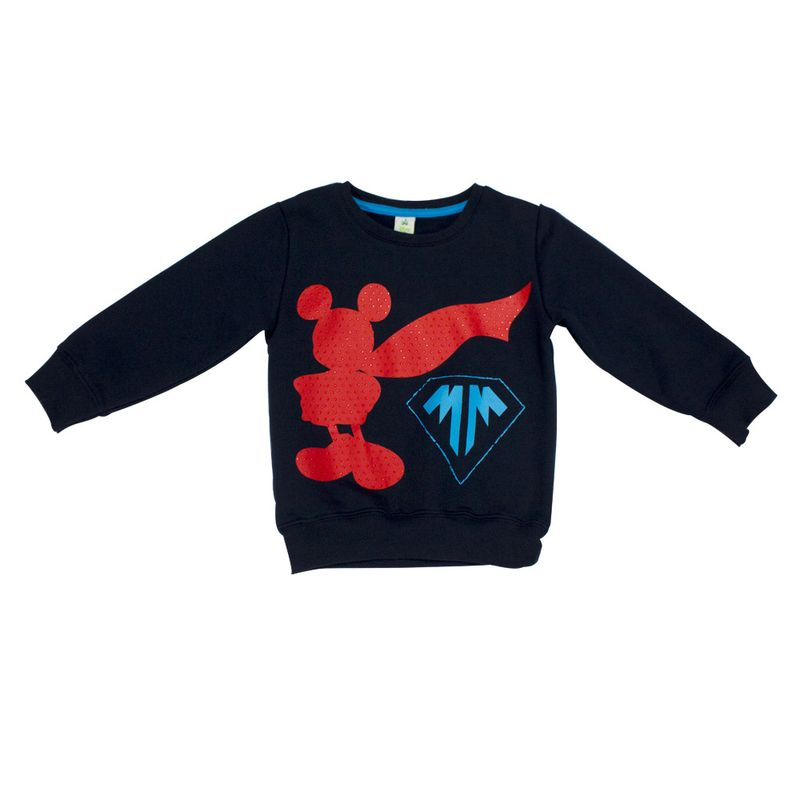 Blusão em Moletom - Marinho - Super Mickey - Disney - 1 - PBKIDS f0421d04d9d