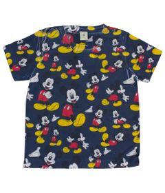Camiseta-Manga-Curta-em-Meia-Malha---Marinho---Fantasia-Mickey---Disney---1