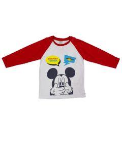 Camiseta-Manga-Longa---Branco-e-Vermelho---Revolution-Mickey---Disney---1