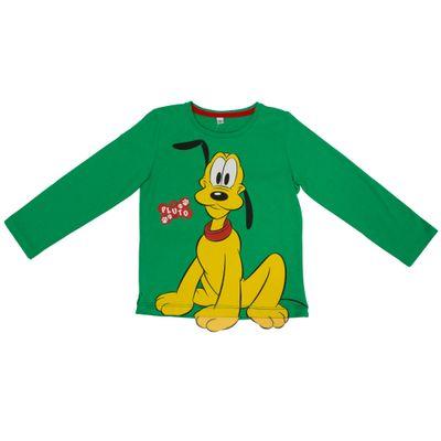 Camiseta-Manga-Longa-em-Meia-Malha---Verde---Fantasia-Pluto---Disney---1