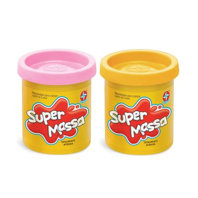 Super-Massa---2-Potes---Rosa-e-Amarelo---Estrela