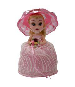 Mini-Boneca---Taca-Surpresa---Rosa---New-Toys-Detalhe-1