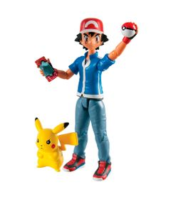Boneco-de-Acao---15-Cm---Pokemon---Ash-e-Pikachu---Sunny