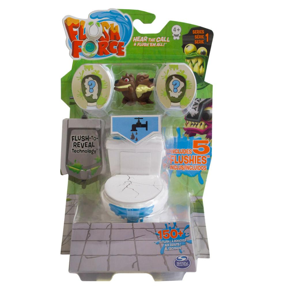 Mini Figuras - Flush Force - Vaso e 5 Figuras - Sunny
