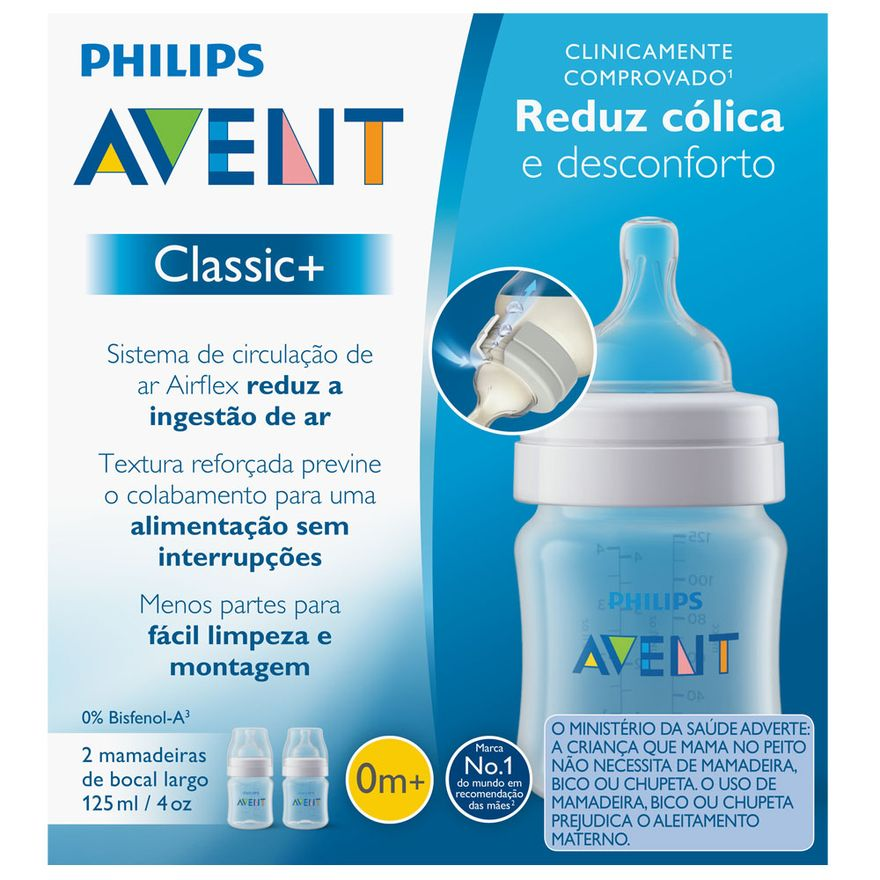 Mamadeira-Classica---Pack-Duplo----0-Mes---125-Ml---Philips-Avent