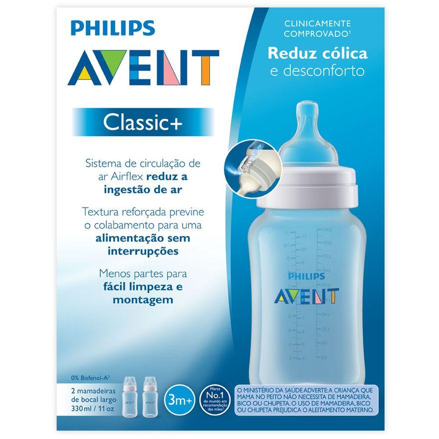 Mamadeira-Classica---Pack-Duplo----3-Meses---330-Ml---Philips-Avent