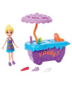 Playset-e-Mini-Boneca-Polly-Pocket---Carrinho-de-Sorvete-e-Polly---Mattel