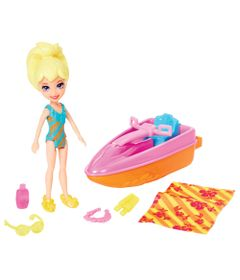 Playset-e-Mini-Boneca-Polly-Pocket---Dia-na-Praia---Polly-e-Esqui-Aquatico---Mattel