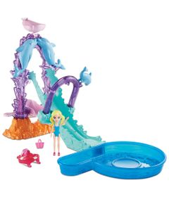 Playset-e-Mini-Boneca-Polly-Pocket---Parque-Aquatico-Golfinho---Mattel