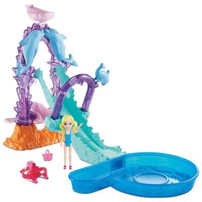 Playset-e-Mini-Boneca-Polly-Pocket---Parque-Aquatico-Golfinho---Mattel