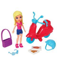 Playset-e-Mini-Boneca-Polly-Pocket---Scooter-e-Pizza---Polly---Mattel