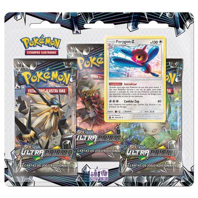 Deck-Pokemon---Triple-Deck---Sol-e-Lua-Ultra-Prisma---Porygon-Z---Copag