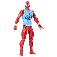 Boneco-Articulado---30-Cm---Titan-Heroes---Disney---Marvel---Spider-Man---Scarlet-Spider---Hasbro
