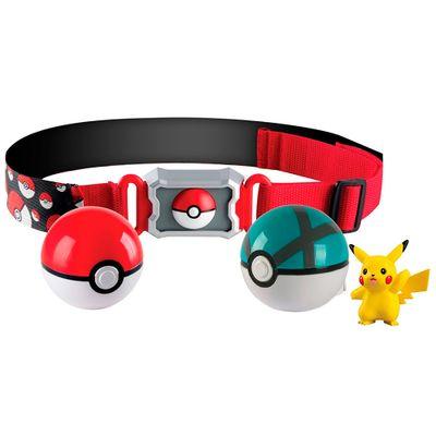 Conjunto-de-Acao---Pokemon---Cinto-Porta-Pokebolas---Picachu-II---Sunny