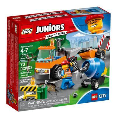 LEGO-Juniors---City---Caminhao-Reparacao-da-Estrada---10750