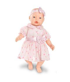 Boneca-Baby-By---Com-Roupinhas---Vestido-Rosa-Claro-com-Flores---Roma-Jensen