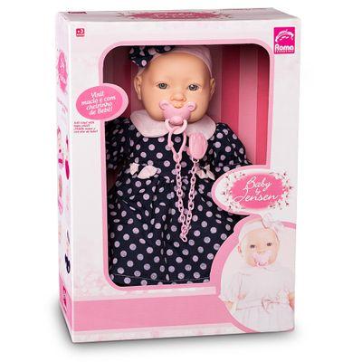 Boneca-Baby-By---Com-Roupinhas---Vestido-Azul-com-Bolinhas---Roma-Jensen