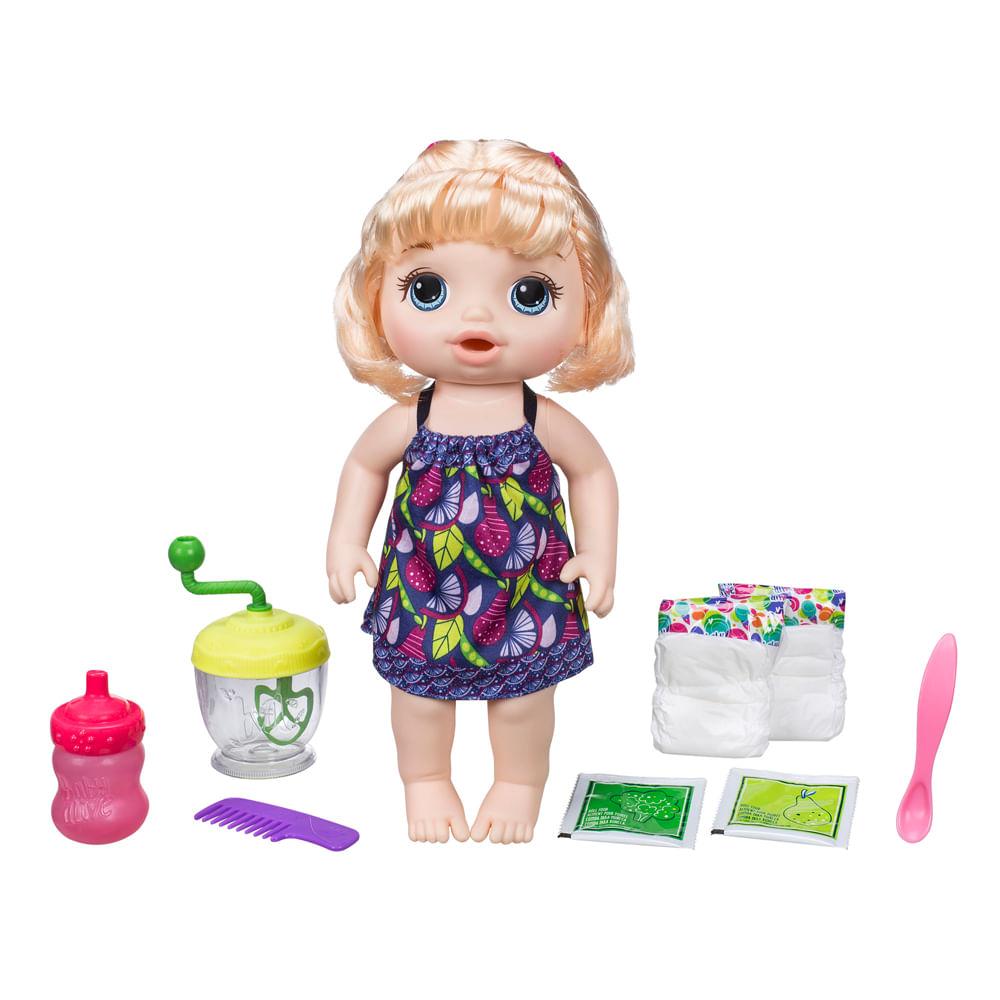 Boneca Baby Alive - Papinha Divertida - Loira - Hasbro