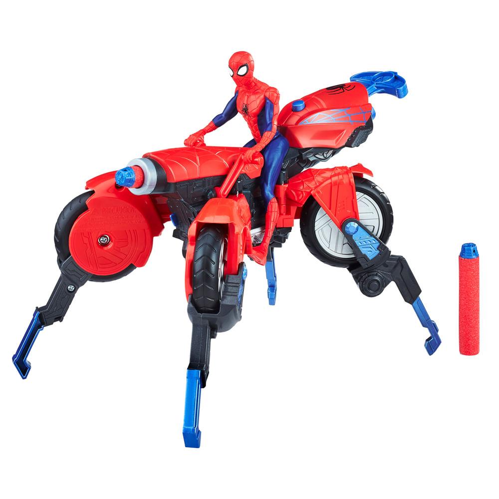 Boneco com Veículo - Disney - Marvel - 3 em 1 - Spider Man - Hasbro