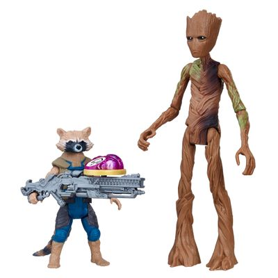 Boneco-de-Acao---20-Cm---Joias-do-Infinito---Disney---Marvel---Avengers---Groot-e-Rocket-Raccoon---Hasbro