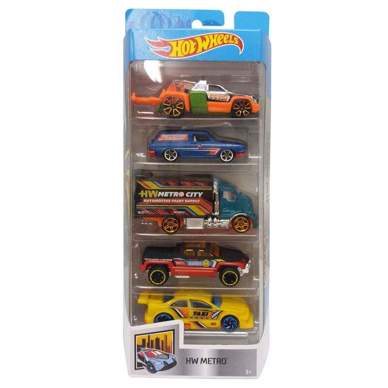 8832fd8f3b Carrinhos Hot Wheels - Pacote com 5 Carros - HW Metrô 2018 - Mattel ...