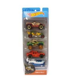 Carrinhos-Hot-Wheels---Pacote-com-5-Carros---Jungle-Rally---Mattel