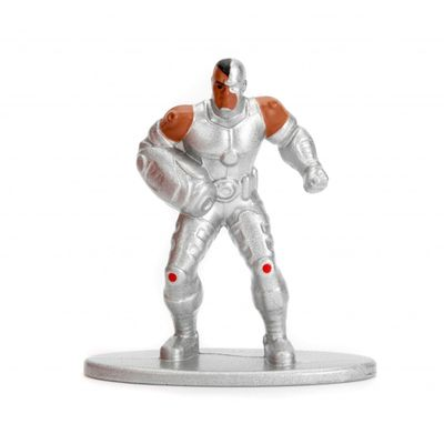 Figura-Colecionavel---4-Cm---Metals-Nano-Figures---DC-Comics---Cyborg---DTC