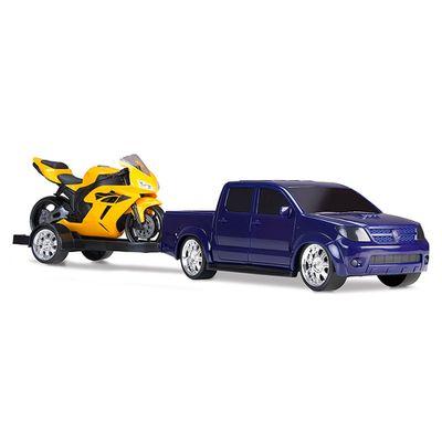Pick-Up-Vision-Racing-com-Moto---Azul-e-Amarelo---Roma-Jensen
