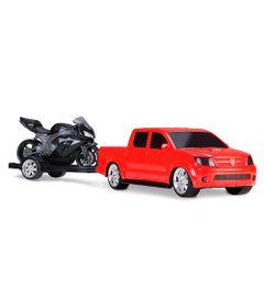 Pick-Up-Vision-Racing-com-Moto---Vermelha-e-Preto---Roma-Jensen