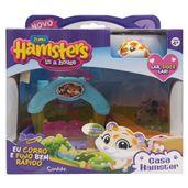 Playset-Casa-Hamster-com-Figura---Hamsters-in-a-House---Lar-doce-Lar---Azul-e-Amarelo---Candide