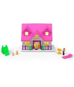 Playset-e-Mini-Figura---Mini-House---Casinha-Rosa---DTC