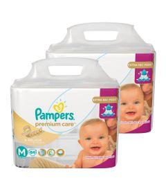 Kit-com-2-Pacotes-de-Fralda-Descartavel-Premium-Care-Jumbo---M---Total-168-Unidades---Pampers