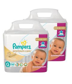 Kit-com-2-Pacotes-de-Fralda-Descartavel-Premium-Care-Jumbo---G---Total-136-Unidades---Pampers