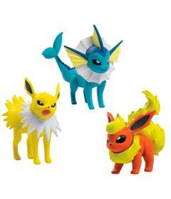 Conjunto-de-Figuras---Pokemon---Jolteon---Vaporeon---Flareon---Sunny