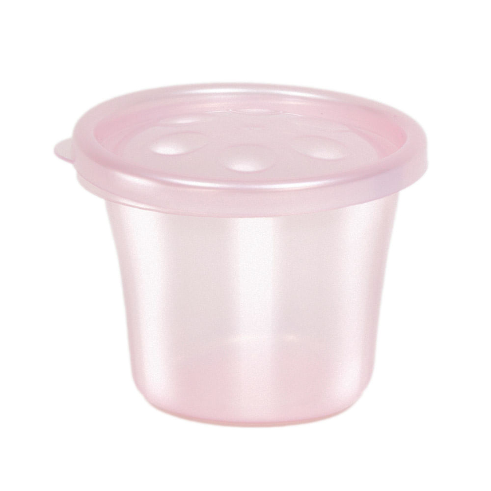 Conjunto de Potinhos para Papinha - 3 Unidades - Rosa - Buba