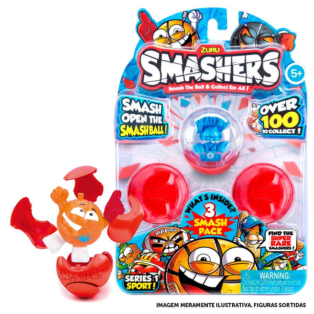 Figura Surpresa - Smashers - Pack 3 Esferas - Candide