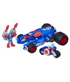 Veiculo-e-Figura---Playskool-Heroes---Disney---Marvel---Capitao-America---Carro-Lancador---Hasbro