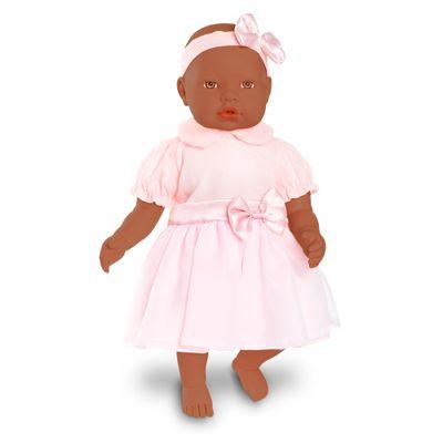 Boneca-Bebe---Baby-By-Jensen---Negra---Macaquinho-Rosa---Roma-Jensen