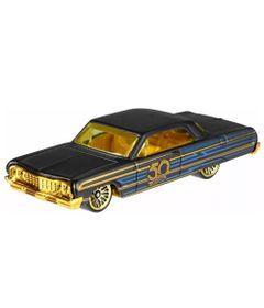 Carrinho-Hot-Wheels---Edicao-50-anos---Preto-e-Dourado---Impala-1964---Mattel